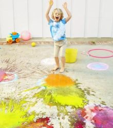 Chalk bomb craft for a summer day